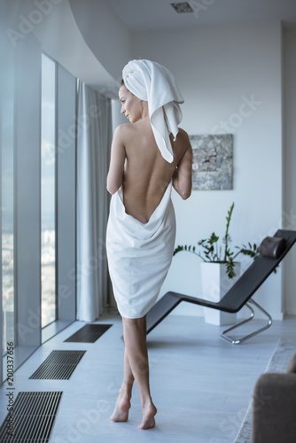 Fotobehang Artist KB Pretty brunette lady in the spa