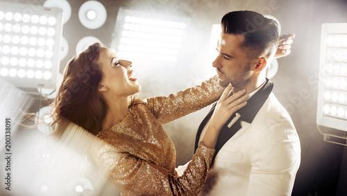 Papiers peints Artiste KB Portrait of a dancing, elegant couple on a party