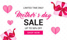 Mother's Day Sale Banner Vecto...