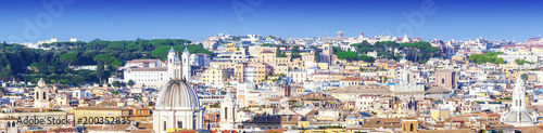 Foto auf AluDibond Wien Panoramic view of the city of Rome, Italy