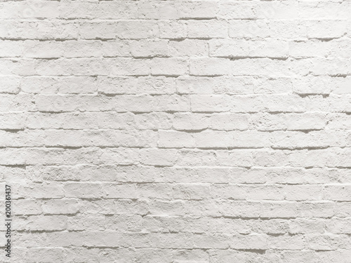 Foto op Plexiglas Wand abstract empty weathered textured white brick wall background