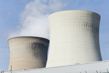 Close Up Of Two Cooling Towers