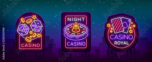 Fotografia Casino is a set of neon signs