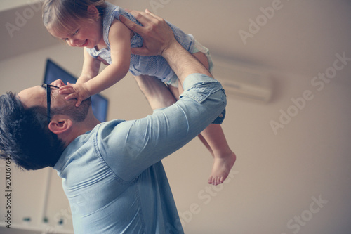 Photo  Single father with his baby girl.