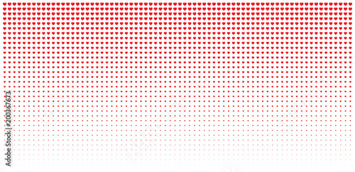 Halftone red hearts gradient background valentines day design halftone red hearts gradient background valentines day design illustration card wedding invitation card backdrop stopboris Choice Image