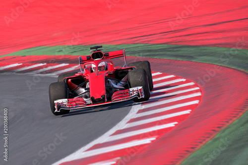 Photo sur Aluminium Motorise Formel Rennwagen frontal