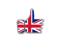 Great Britain Flag Thumbs Up V...