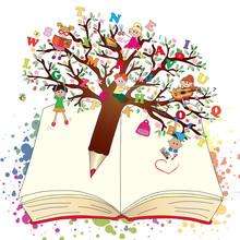 Book With Fantasy Tree Pen
