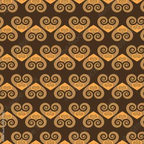 Poster Kunstmatig Heart seamless pattern