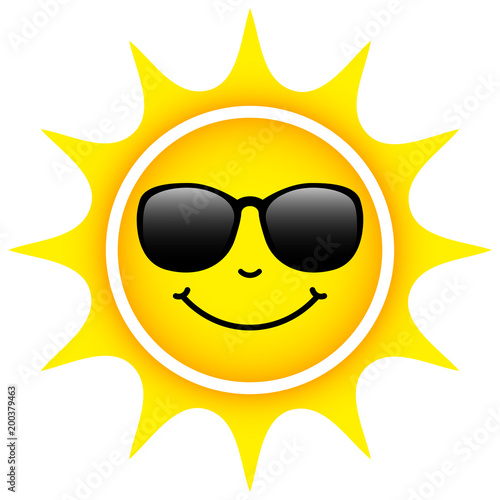 Obraz Yellow Sun Sunglasses - fototapety do salonu