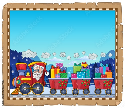 For Kids Parchment with Christmas train theme 3