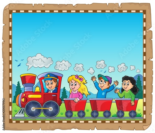 For Kids Train with kids theme parchment 1