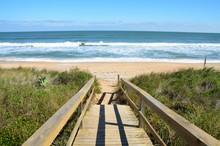 Boardwalk Entrance To The Ocean Beach