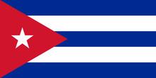Cuba Flag Standard Proportion Color Mode RGB
