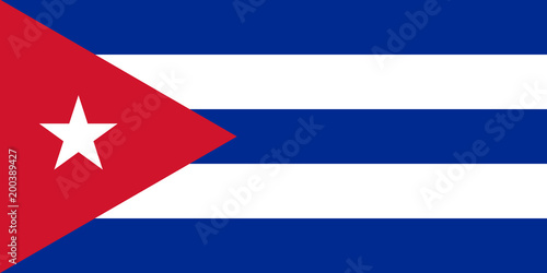 Cuba flag standard proportion color mode RGB Canvas Print