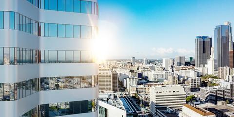 Hochhaus Gebäude in Los Angeles im Sommer