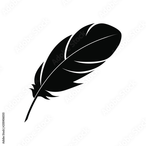 Fotomural Feather sign or a symbol