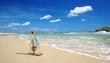 Strand mit Flaschenpost