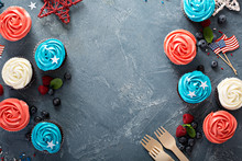 American Flag Cupcakes For 4th Of July