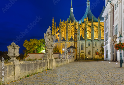 Photo  St Barbara church in town Kutna Hora - Czech Republic