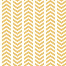 Vector Yellow White Broken Chevron Seamless Pattern