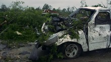 Mangled Pickup Truck After Tornado