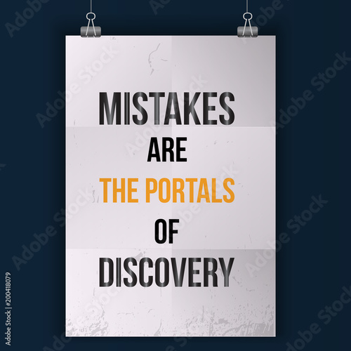 Mistakes Are The Posrtals Of Discovery Wise Massage About Learning