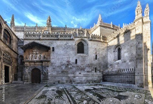 Carta da parati Royal Chapel outdoors at Granada Cathedral, constructed between 1505 and 1517, and originally integrated in the complex of the neighbouring Granada Cathedral