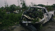 Pickup Truck Destroyed By Torn...