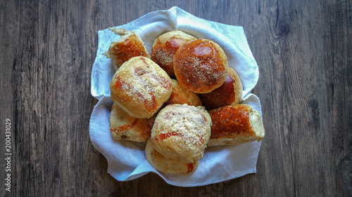 Foto op Canvas Brood assortment of baked bread