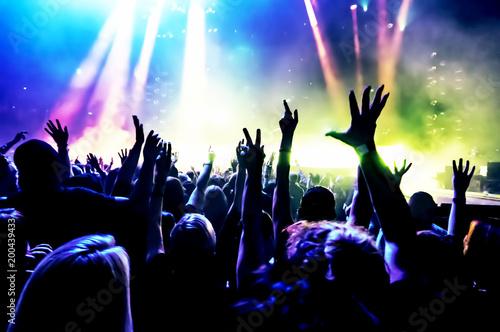 Fotografía  cheering crowd at a rock concert