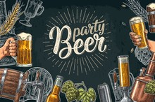 Beer Set With Tap, Class, Can,...