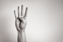 Hand Showing Five Fingers.