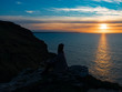Sunset on Tintagel Castle