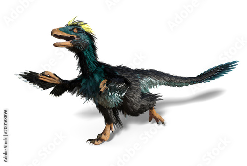 Fotomural  Deinonychus - Dinosaur with Feathers