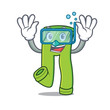 Diving pants character cartoon style