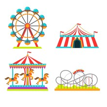 Amusement Park Attractions Rid...