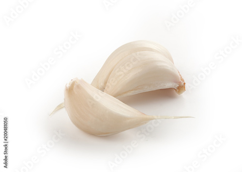 Photo  Two cloves of young garlic