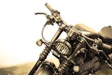 Vintage Motorcycle Detail,vintage Tone