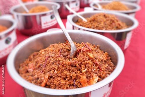 chili paste at street food
