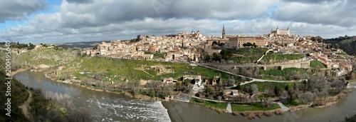 Poster Ruine Toledo ve Tajo Nehri
