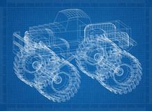 Monster Truck 3D Blueprint