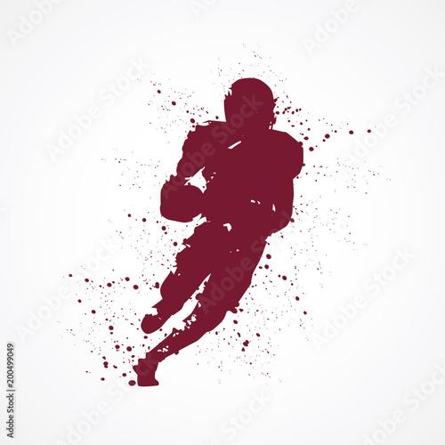 Footballeur américain-tâches rouges © lil_22