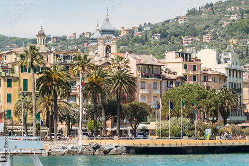 Foto auf Gartenposter Stadt am Wasser Scorci di Santa Margherita Ligure, Golfo del Tigullio, Mar Ligure, Genova, Liguria, Italia