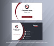 Red Black and White Corporate Business Card 11