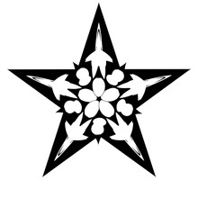 Decorative Star With A Flower ...