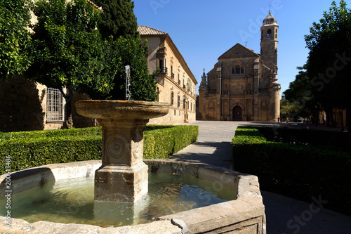 Úbeda (Jaén) Spain. Fountain of the Plaza Vázquez de Molina in the town of Úbeda