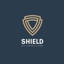 Vector Logo Design Template. Shield Sign