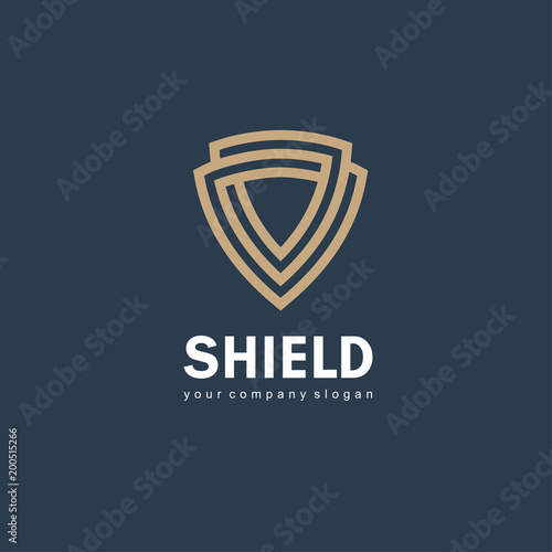 Fotografía Vector logo design template. Shield sign