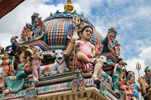 Photo  The Sri Mariamman Hindu Temple in Chinatown, Singapore